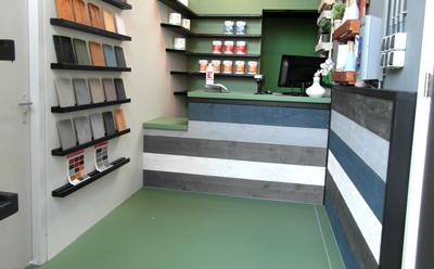 Krijtverf winkel in Hoogeveen in de provincie Drenthe op deze afbeelding